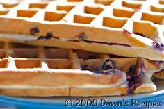 Wild Blueberry Waffles | Dawn's Recipes