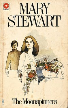The Moon-Spinners. Mary Stewart is a good example of suspenseful or mystery romance writing Good Books, Books To Read, My Books, Book Cover Art, Historical Romance, Book Authors, Romance Novels, Vintage Books, Love Book