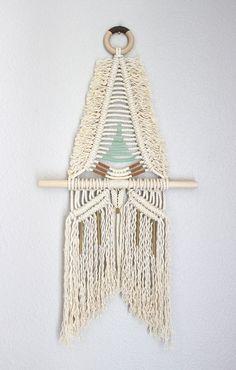 "Macrame Wall Hanging ""SAKUYA no.23"" by HIMO ART, One of a kind Handcrafted Macrame/Rope art"