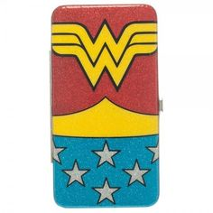 DC Comics Wonder Woman Red Glitter Hinge Wallet Official Licensed Product