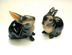 Vintage Goebel Porcelain Pair of Rabbits Figurines by JackpotJen, $38.00