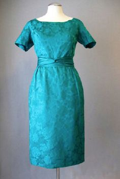 Vintage early 1960s cocktail dress in emerald by BWWSGVintage