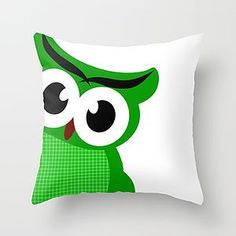 Green Owl Cushion Cover - soft furnishings & accessories
