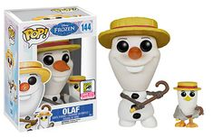 Disney Frozen Barbershop Quartet Olaf and Seagull Pop figures by Funko, San Diego Comic Con 2015 exclusives
