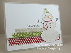 Stamps: Snow Day, Remembering Christmas Paper: Sahara Sand, Whisper White  Ink: Sahara Sand, Old Olive, Cherry Cobbler, Early Espresso, Pumpkin Pie Tools and Accessories: Season of Style Washi tape,  Linen Thread, Dimensionals