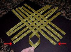 DIY Woven Star Tree Topper
