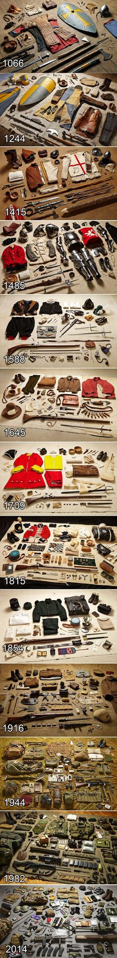 History Discover History of war uniforms in one image. Pretty cool quick visual reference: History of war uniforms in one image Medieval Combat, Armadura Medieval, Templer, Landsknecht, One Image, Military History, Military Gear, Military Equipment, Military Memes