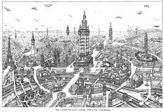 """Eugène Hénard, """"Cities of the Future"""" Royal Institute of British Architects, in Town Planning Conference London, 10-15 October 1910, Transactions (London: The Royal Institute of British Architects, 1911):345-367. (via John W. Reps, Urban Planning, 1794-1918: An International Anthology of Articles, Conference Papers, and Reports)."""