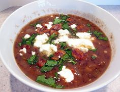 A Mexican inspired Red Bean Soup with Bacon and Fire Roasted Tomatoes | The Spiced Life