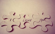 I Love You Puzzle HD Wallpaper