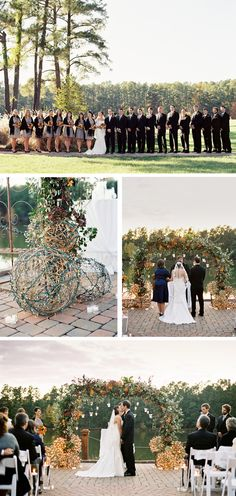 archway of hanging lights and huge grapevine balls with lights looks beautiful at dusk! Wedding Planning Inspiration, Wedding Photo Inspiration, Wedding Photos, Wedding Ideas, Ceremony Arch, Handfasting, Wedding Ceremonies, Wedding Songs, Wedding Outfits