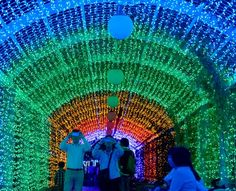 PHOTO: Light show brightens Osaka's Tennoji Park - AJW by The Asahi Shimbun