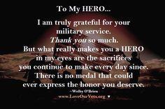 My Veterans Day card to MY HERO. <3