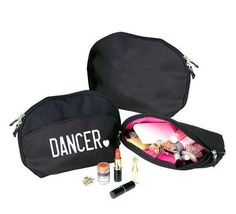 Simply the cutest cosmetic bag especially for dancers! The Shocking Pink interior is great because you can actually see inside to find things. x 7 x Dance Gear, Dance Comp, Spa Pedicure Chairs, Ballet Bag, Dance Makeup, Leotard Fashion, Dance Gifts, Little Ballerina, Cute Cases