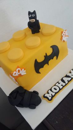 A Belle's Patisserie Lego Batman cake for boys/men