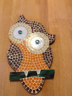 Owl Mosaic, Mosaic Garden Art, Mosaic Flower Pots, Mosaic Pots, Mosaic Birds, Mosaic Glass, Stone Mosaic, Pebble Mosaic, Stained Glass Birds