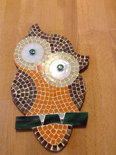 Cam Mozaik Baykuş. Denizatı Sanat atölyesi