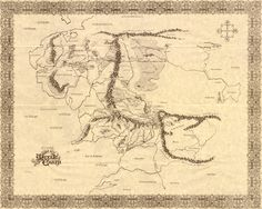 War in Middle-earth Map - J.R.R. Tolkien