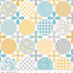Lori Holt - Polka Dot Stitches - Designer Cloth in Blue
