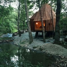 The Treehouse is located in a little woods of poplar and hawthorn trees, where is at the foot of Mount Wuling in Miyun, Beijing. The cliff on the north with ...