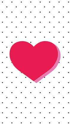 Black white dots spots pink heart iphone wallpaper phone background lock screen
