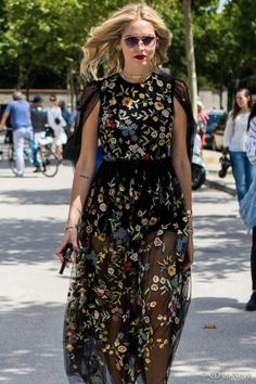 Paris Fashion Week Dior Haute Couture AW17 Chiara Ferragni Street Style