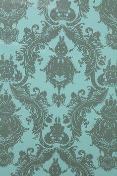 Damsel Wallpaper   Aqua Grey #UrbanOutfitters