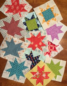Welcome back to QM Bitty Blocks! I'm happy to share September's free quilt block pattern with you alla 4 Sawtooth Star. Star Quilt Blocks, Star Quilts, Scrappy Quilts, Mini Quilts, Easy Quilts, Mini Quilt Patterns, Quilting Patterns, Miniature Quilts, Doll Quilt