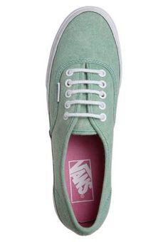 Vans AUTHENTIC SLIM Sneaker stone wash neptune green