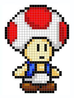 Pearler Bead Patterns, Perler Patterns, Plastic Canvas Crafts, Plastic Canvas Patterns, Pixel Art Mario, Super Mario, Hama Beads Mario, Art Hama, Pixel Art Templates