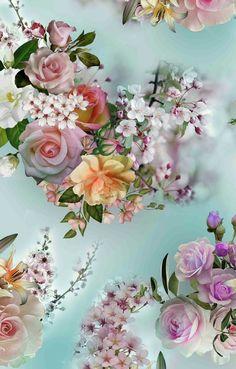 Fabric Print Design, Cellphone Wallpaper, Digital Pattern, Abstract Pattern, Flower Designs, Flower Art, Printing On Fabric, Beautiful Flowers, Digital Prints