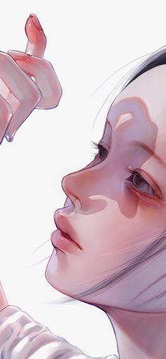 digital art graphic design aesthetic drawing photoshop modern anime style asian stylus art tablet drawings japanese chinese ethereal cute kawaii g e o r g i a n a : a r t Digital Art Tutorial, Girly Art, Cartoon Art Styles, Art Girl, Pretty Art, Art Wallpaper, Digital Art Girl, Portrait Art, Aesthetic Art