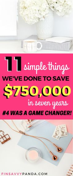 Are you having trouble saving money? To get out of debt? To start investing? I know how you feel and I want to help you reach financial freedom today. We started from $93,000 debt to having over $750,000 savings and equity within seven years. To be honest, we're just regular people like you. Come and learn how to save money and build wealth via finsavvypanda.com saving money tips | increasing income tips | personal finance tips | investing for beginners
