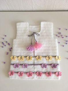 42 Ideas For Crochet Kids Bolero Layette Baby Knitting Patterns, Crochet Baby Sweater Pattern, Baby Sweater Patterns, Crochet Baby Cardigan, Baby Patterns, Knit Crochet, Crochet Patterns, Baby Pullover Muster, Bobble Stitch