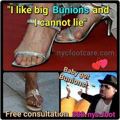 If you're not Sir Mix a lot and don't like big bunions… Call NYC FOOTCARE 888-nyc-foot / nycfootcare.com 212.385.2400 #NYC #pedicure #highheels #l4l #toes #makeup #manhattan #bronx #brooklyn #queens...
