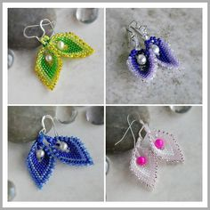 * * * TUTORIAL ONLY * * *  Bead Tutorial : Russian Leaf Pearl Earrings    ✹ This tutorial teaches one to craft the Russian Leaf in glass seed beads with a dangle accent pearl in the center. Based upon a simple stitch, this is a step-by-step technique that results in a beautiful set of earrings.    ✹ Suitable for beginner to advanced beaders; good to have a working knowledge of single peyote stitch.    ✹ This guide is a dense five pages of diagrams and photos with a basic material list…