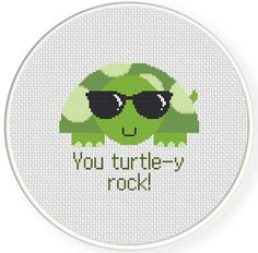 FREE for Dec 11th 2016 Only - You Turtley Rock Cross Stitch Pattern