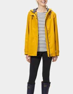 Coast Antique Gold Waterproof Jacket | Joules US