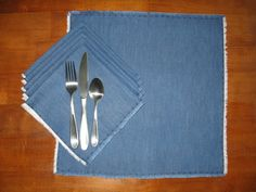 Coordinating Denim Napkins Set of 6