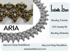 ARIA SuperDuo Beadwork Necklace DIY Beading Kit Tutorial. $48,00, via Etsy.