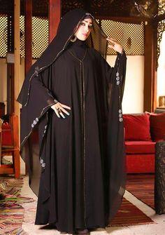N/A Burka Fashion, Modern Hijab Fashion, Fashion Outfits, Muslim Dress, Hijab Dress, Abaya Designs Dubai, Denim Abaya, Hijab Collection, Sleeves Designs For Dresses
