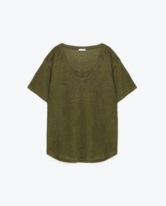BASIC LINEN T-SHIRT-View all-T-SHIRTS-WOMAN-COLLECTION AW16 | ZARA United States