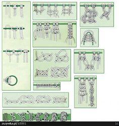 Different Macrame Knots Macrame Art, Macrame Projects, Macrame Jewelry, Macrame Bracelets, Hemp Jewelry, Couture Main, Micro Macramé, Macrame Plant Hangers, Macrame Patterns