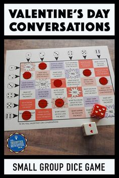 Need a great Valentine's Day team building or party activity? This partner or small group game uses dice and elements of tic tac toe to create a fun conversatio Small Group Games, Youth Group Games, Small Groups, Class Games, Games For Kids Classroom, Building Games For Kids, Valentines Games, Valentines Day Activities, Valentine Ideas