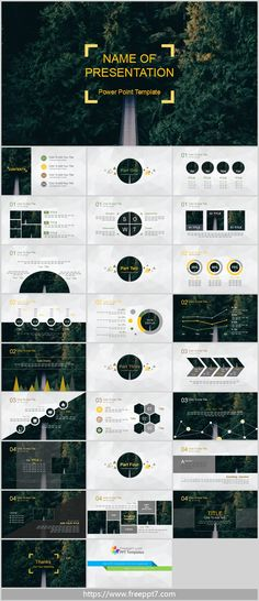 Forest Background PowerPoint Template_Google Slides theme
