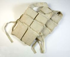 Titanic life vest - the pockets were filled with cork