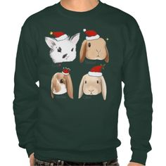Bunny Bunch Christmas Sweater Pull Over Sweatshirt http://www.zazzle.com/bunny_bunch_christmas_sweater_pull_over_sweatshirt-235172114933697310?rf=238675983783752015