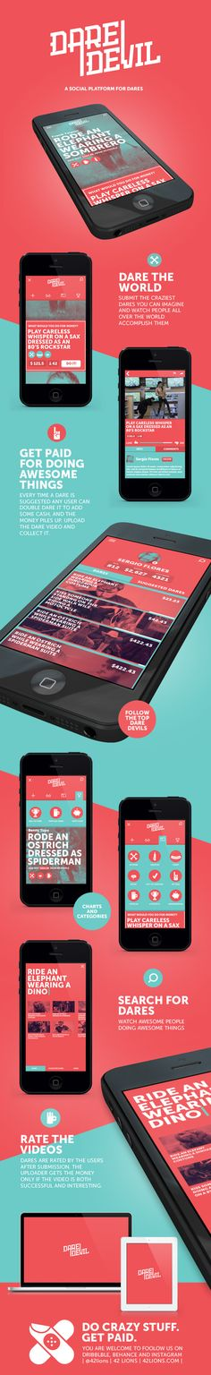 Dare Devil By Adar Rom & Avi Naim 42lions.com #mobile #ui #design