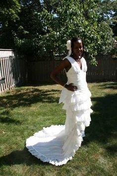 Toilet paper wedding dress contest.