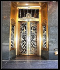 """Million Dollar Doors ~ Peacock Doors [Tiffany] ~ House of Peacock ~ Chicago Il by Onasill """"OFF"""" Traveling, via Flickr"""